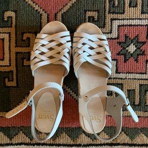 Sven Weave Clog, Ankle Strap, Low Heel